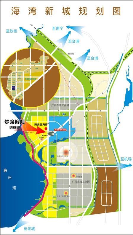 广西滨海公路地图